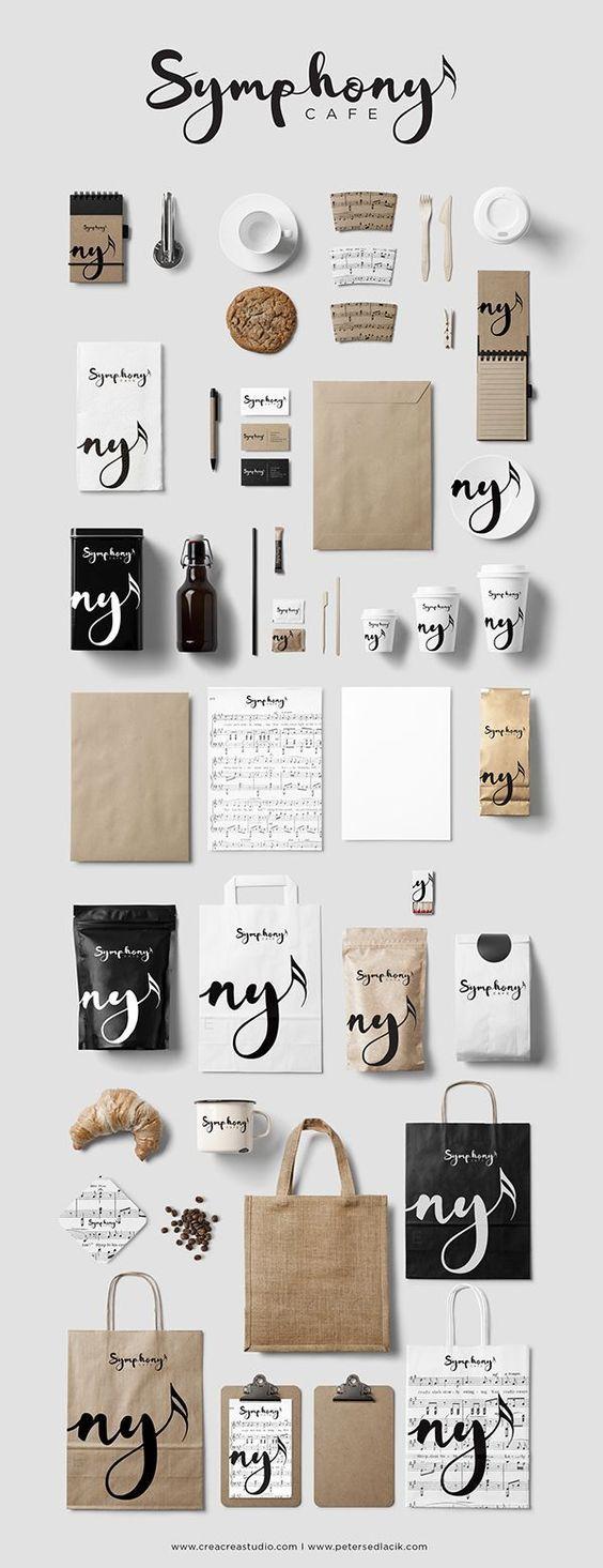 Symphony Cafe Branding & Logo Design creacreastudio.com