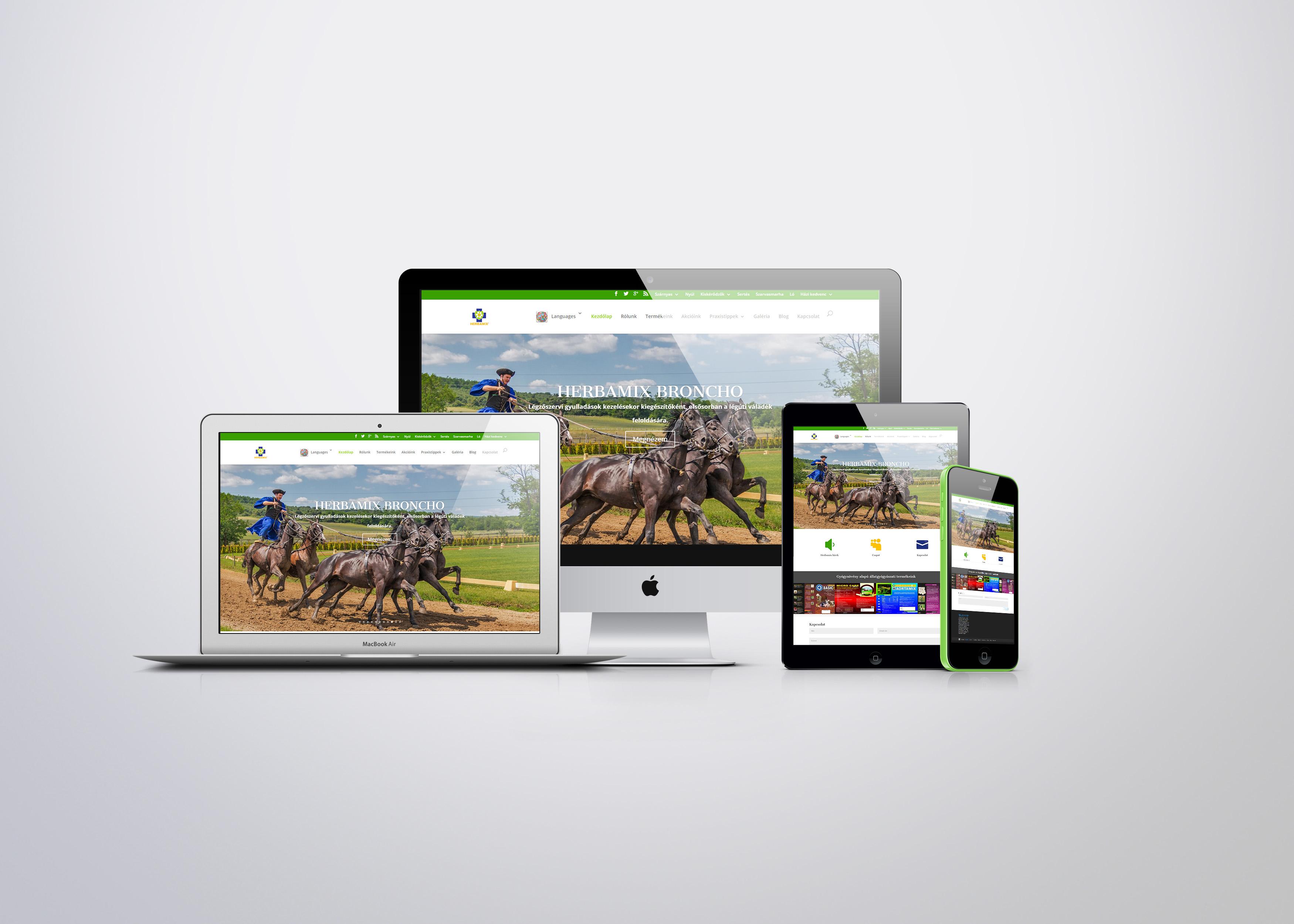 Herbamix természetes állatgyógyászat Reszponzív weboldal