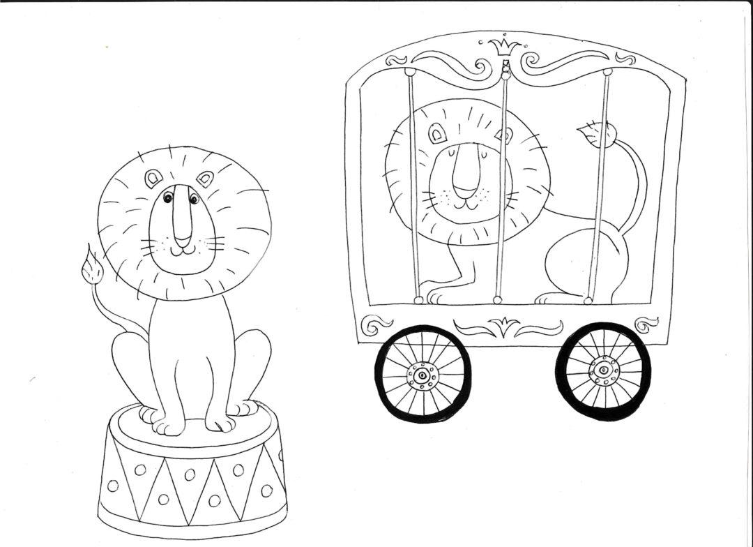 Cirkuszi oroszlán