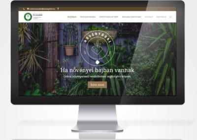 Növénydoki reszponzív weboldal