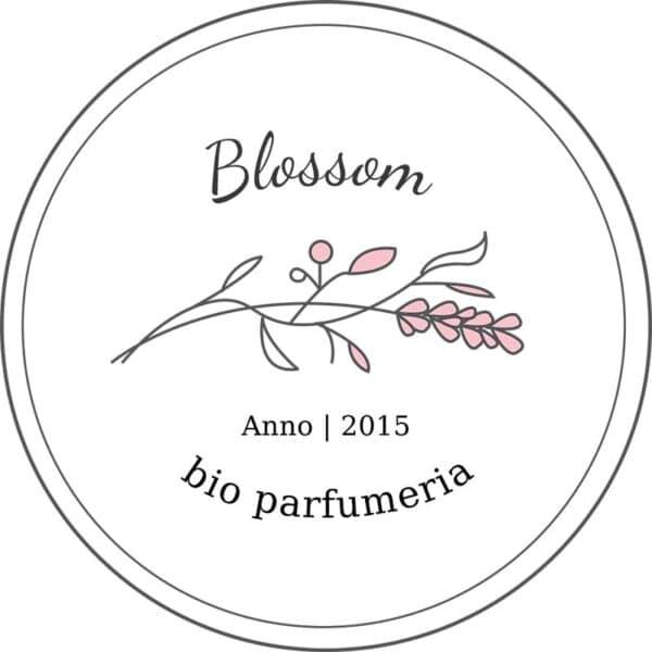 Blossom pecsét, Blossom másodlagos logó, Blossom tavaszi virágos, retro, letisztult, pink, nőies logó kisvállalkozásoknak