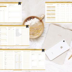 Arany nyomtatható online vállalkozás tervező csomag