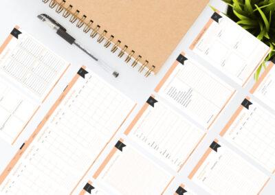 Púder nyomtatható online vállalkozás tervező csomag
