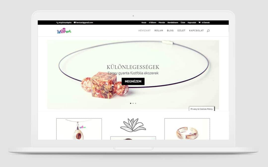 Hévizart Gyantaékszerek weboldal