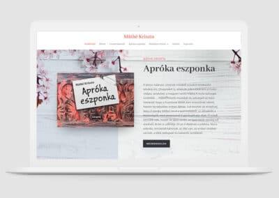 Máthé Kriszta írónő weboldala
