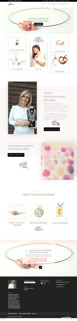 oldal és webshop