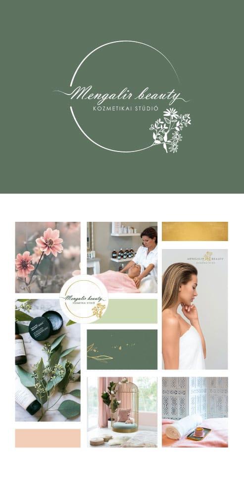Mengalir beauty kozmetikai stúdió moodboard
