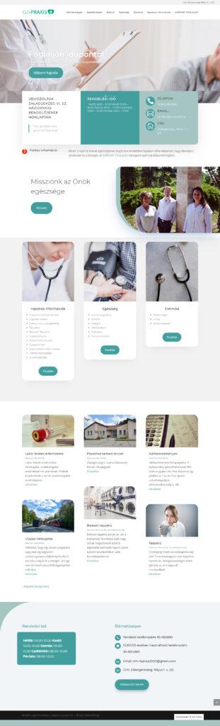 Zalaegerszegi Vi. számú háziorvosi rendelő weboldalának tervezése és elkészítése, időpontfoglalással a booked4us alkalmazás segítségével.