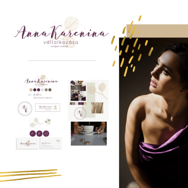 Anna Karenina logó és arculati tábla csomag